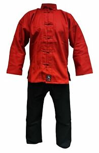 Kung Fu Anzug Shaolin rot-schwarz