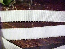 WHITE Picot Heavy Plush STRAPPING Strap Elastic 3/4 inch NEW 5 yds.