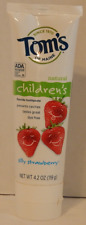 Tom's of Maine Natural Children's Flouride Toothpaste Silly Strawberry Dye Free