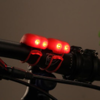 2PCS Silicone Mountain Bike Bicycle Front Rear Light Night Cycling Light Clip w