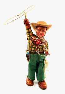 "Original Rodeo Cowboy 7.5"" (19 cm) Tin Windup Japanese Tin Toy by Linemar NR"