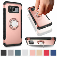Finger Ring 360° Stand Holder Case Protective Cover For Samsung Galaxy Phones