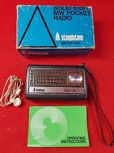 Vintage : STEEPLETONE Nipper 006 : Transistor MW Radio : Working