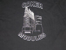 CHEVERON El Segundo Refinery COKER Modules Drums Black T Shirt Tee Mens XL