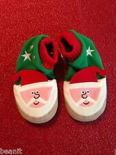 Hanna Andersson Warm Fleece Slipper Boot Christmas Santa Brand New Size 11/12