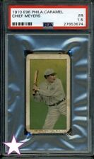 PSA GRADED 1.5 ⚾ E96 CHIEF MEYERS CARAMEL CARD 1910 PHILADELPHIA FAIR [FR] CANDY
