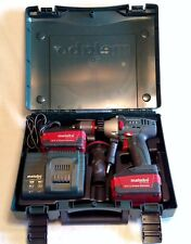 Metabo SB18 LTX Cordless Hammer Drill w/ Case, Charger & 2 Batteries