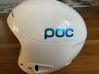 POC Skull X Race All Mountain Helmet, Medium White Glossy, pre-owned barely used