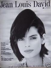 PUBLICITÉ 1996 JEAN-LOUIS DAVID VOUS RÊVEZ DE VOLUME GONFLETTES - ADVERTISING