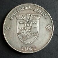 WW2 GERMAN COIN 5 REICHSMARK 1942 HITLER KRIM CRIMEA UKRAINE