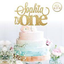 1st Name Cake Topper one glitter Custom Personalised Cake Topper 1 2 3 any age