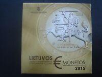 Lithuania 2015 coin set BU 1 cent - 2 euro 3,88 euro