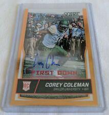 2016 Score COREY COLEMAN Baylor University Bears no. 363 card~Autographed 2/5