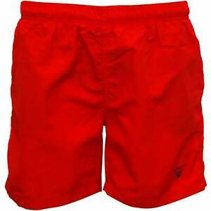 Gant Classic Shield Logo Boys Swim Shorts, Red