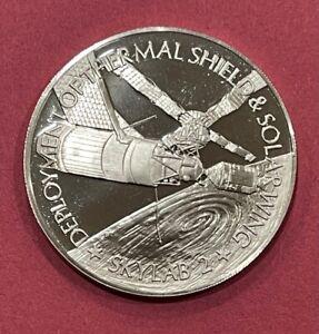 SKYLAB 2 FLIGHTS SERIES PROOF AMERICA IN SPACE STERLING SILVER COIN MEDAL
