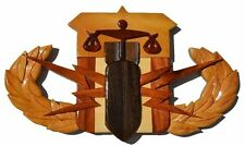Public Safety Bomb Tech - Psbt Badge - Handcrafted Wood Art Military Plaque