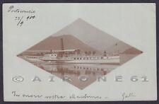 BATTELLO GOTTARDO 01 PORTO CERESIO LAGO DI LUGANO Cartolina FOTOG viaggiata 1900