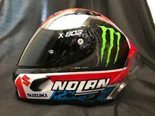 2020 Nolan X803 RS Carbon RINS Suzuki/Monster Stickers Motorbike Race Helmet