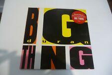 DURAN DURAN LP BIG THING FRENCH RED STICKER. + TAMPON PROMO STAMP EMBOSSED.