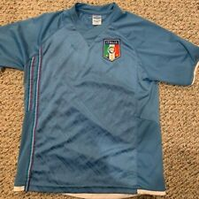 Italia Soccer National Team Jersey Shirt Youth L Blue
