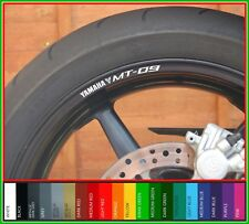 8 x YAMAHA MT09 Wheel Rim Stickers Decals - Many Colours - mt 09 mt-09 tracer sp