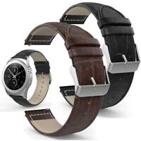 For Samsung Galaxy Gear S2 Classic StrapLeather Strap GenuineWatch Band Strap JU