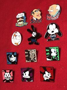 12 Disney pins Oswald Rabbit & Muppets   As Seen Lot x