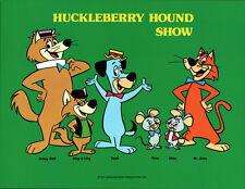 Hanna Barbera STYLE GUIDE PLATE - HUCKLEBERRY HOUND SHOW GANG
