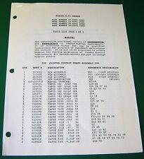 Fender M-80 Chorus Parts List