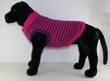 PRINTED KNITTING INSTRUCTIONS - CHUNKY STRIPE DOG COAT KNITTING PATTERN