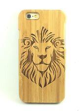 iPhone SE 4/4s Bamboo Wood Case ( Lion Laser Engraving ) 100% Genuine Wood✔️