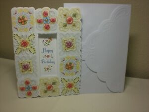 Carol's Rose Garden -  Birthday card - 10 quilting designs on the front