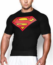 Mens Gym T-Shirt Bodybuilding Fitness Training Muscle Superhero Compression Tops