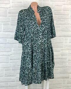 Italy Hippie Boho Hängerchen Tunika Kleid Print 36 38 40 42 Neu K789 Sommer