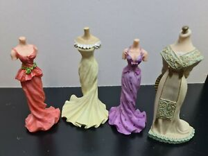 dolls house accessories job lot 4 resin mannequins in period dress 1.12th SA2