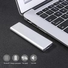 M.2 NGFF SSD mit USB 3,1 Typ-C Konverter Adapter Gehäuse FestPlatte Silber