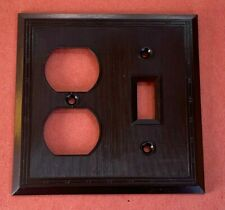 Antique Vintage Toggle Switch Duplex Cover Plate Brown Bakelite