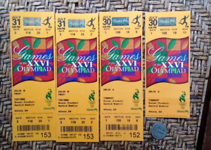 Lot of four tickets from the 1996 Olympics in Atlanta, USA - Soccer / Football