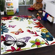 80 x 150 cm Multicoloured Kids Rug Carpet Butterfly Mat Floor Children Playroom