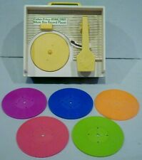 Vintage Fisher Price Sesame Street Music Box Record Player + 5 Records