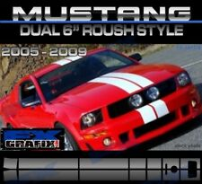 "2005 - 2009 Ford Mustang Dual 6"" Roush Style Stripe Kit Quality Stripes"