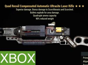 QE90 LASER RIFLE ULT | QUAD EXPLOSIVE 90 REDUCED WEIGHT QE ULTRACITE FO 76 XBOX