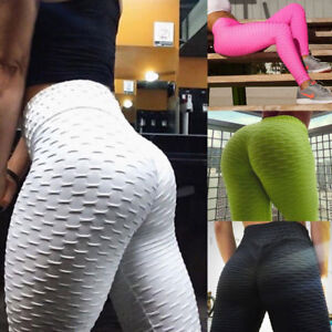Women Anti Cellulite Yoga Pants Scrunch Push Up Leggings Sports Fitness Trousers
