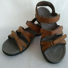 LL Bean Women's Vertigrip Brown Leather Strappy Hiking Water Sandals Size 7