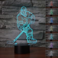 LED Night Light Gift 7 Changeable Colors 3D HOCKEY 1 3D illusion Desk Lamp