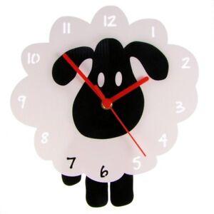 EnjoyYourTime White Sheep Wall Clock (e9539whtb)