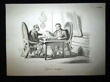 Incisione d'allegoria e satira Monsignor Soglia, Conte Rossi Don Pirlone 1851