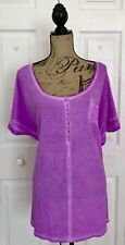 LANE BRYANT WOMEN'S KNIT TOP BLOUSE NWT PLUS 26W COTTON BLEND PURPLE CASUAL