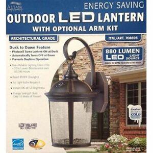 Altair Energy Saving Outdoor LED Lantern With Optional Arm Kit 880 Lumen #708695