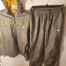 Starter Windbreaker Jacket And Pants Grey/Yellow Mens Size Large
